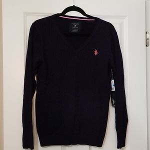 U.S. Polo Assn. Navy V-neck sweater, XL